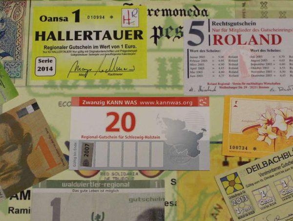 Komplementärwährungen im Umlauf - eine bunte Sammlung