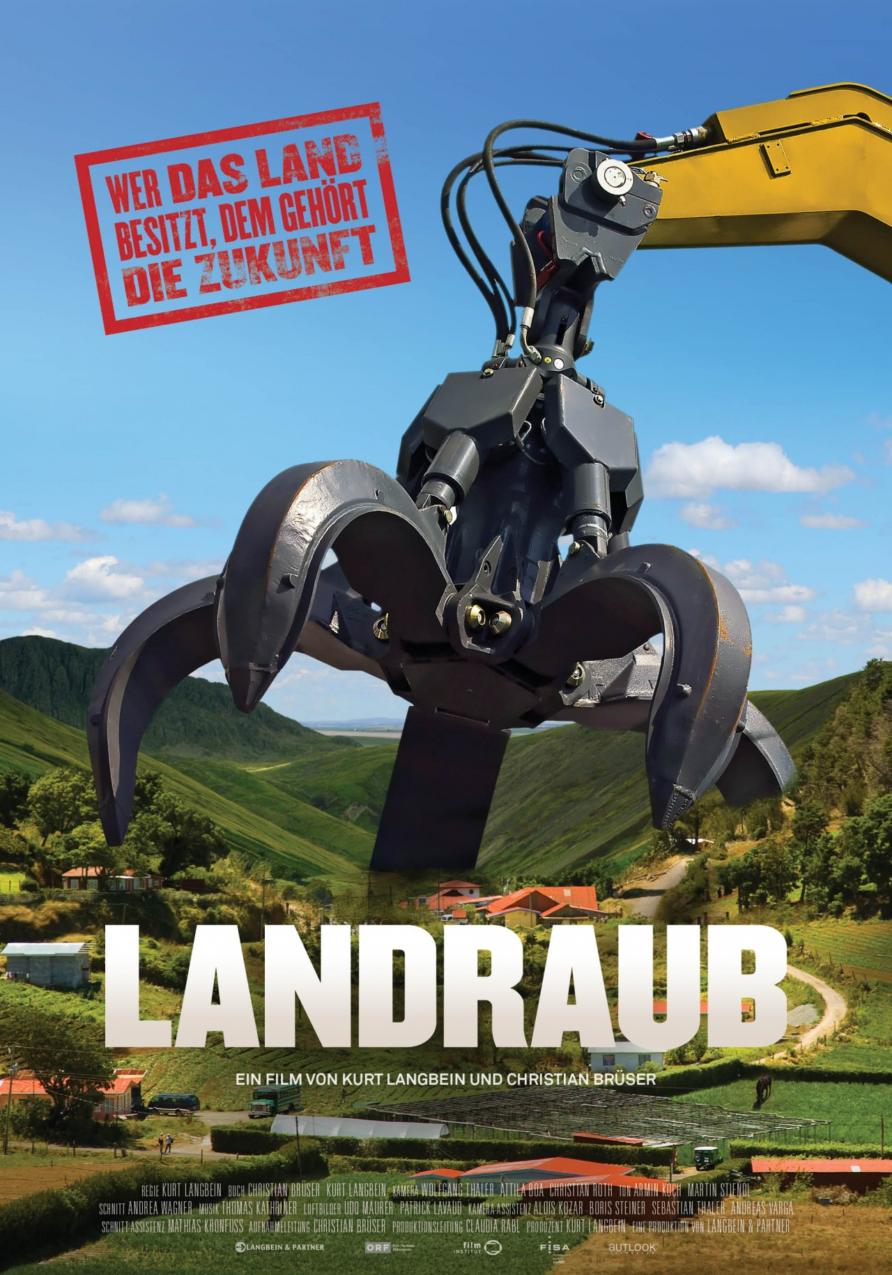 Filmplakat Landraub. Foto: www.landraub.com