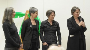 Das Projekt-Team mit Initiatorin Johanna Tschautscher (rechts). Foto: Projektteam aufdecken