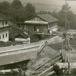 Bau der Müllnertalbrücke mit Wörgler Freigeld 1933. Foto: Unterguggenberger Institut Archiv