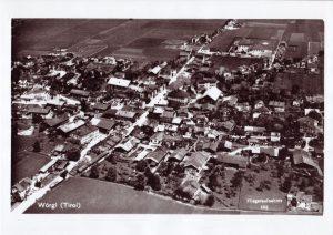Luftaufnahme der Marktgemeinde Wörgl in den 1930er Jahren. Foto: Unterguggenberger Institut Archiv