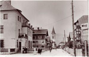 Wörgl in den 1930er Jahren - die heutige Salzburgerstraße. Foto: Unterguggenberger Institut Archiv