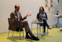 Podiumsdiskussion zum bedingungslosen Grundeinkommen mit Enno Schmidt am 16.5.2017 in Wörgl. Foto: Jutta Seethaler/Unterguggenberger Institut