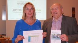 Andrea Aldosser und Manfred Blachfellner bei der Auftaktveranstaltung für die Gemeinwohl-Ökonomie-Regionalgruppe Tiroler Unterland.
