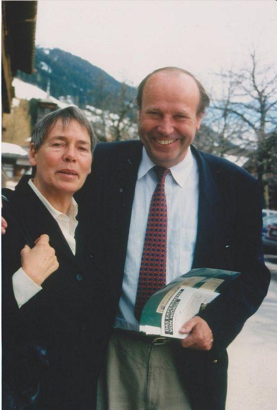 Margrit Kennedy und Bernard Lietaer im März 1999 in Alpbach. Foto: Veronika Spielbichler