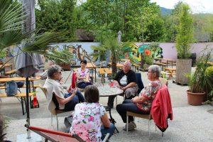 Bei der Mittagsrast in der Zone Kultur.Leben.Wörgl wurde auch über Tauschkreis-Themen diskutiert.