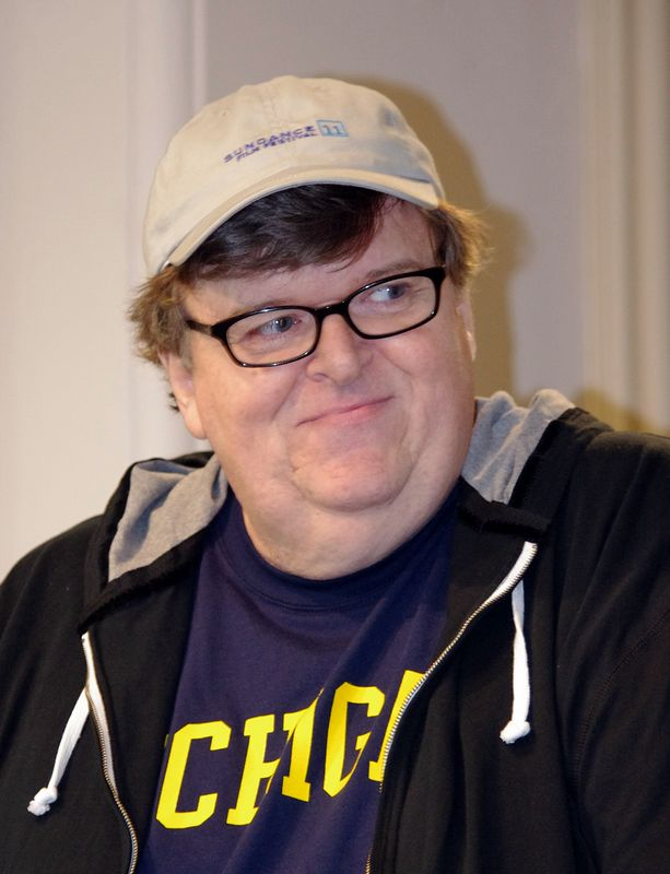 "Als Filmautor zeichnet Michael Moore für Buch und Regie von ""Kapitalismus: Eine Liebesgeschichte"" verantwortlich. Foto: David Shankbone https://commons.wikimedia.org/w/index.php?curid=16476107"