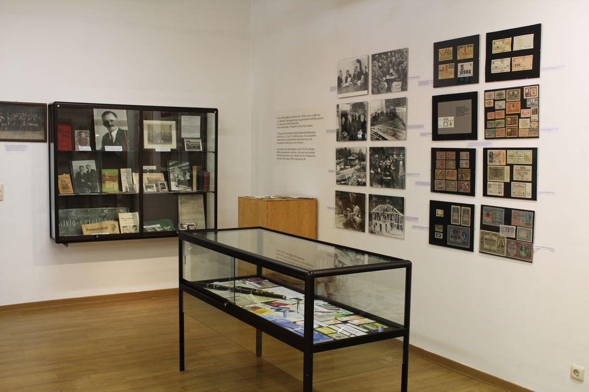 Freigeld-Ausstellung im Wörgler Heimatmuseum. Foto: Veronika Spielbichler