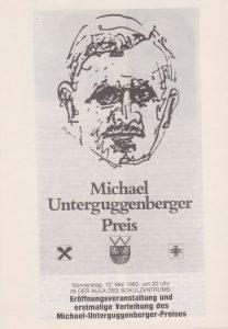 Lia Rigler entwarf die Grafik für den Michael Unterguggenberger Preis.