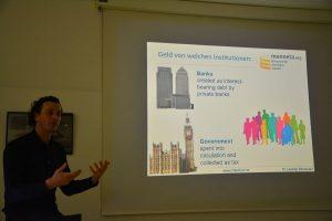 Vortrag Dr. Leander Bindewald am 10.3.2020 in Wörgl. Foto: Unterguggenberger Institut