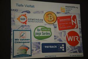 Beispiele von Komplementärwährungen aus dem Vortrag von Dr. Leander Bindewald.