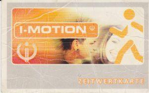 I-motion Zeitwertkarte Vorderseite. Bildnachweis: Unterguggenberger Institut