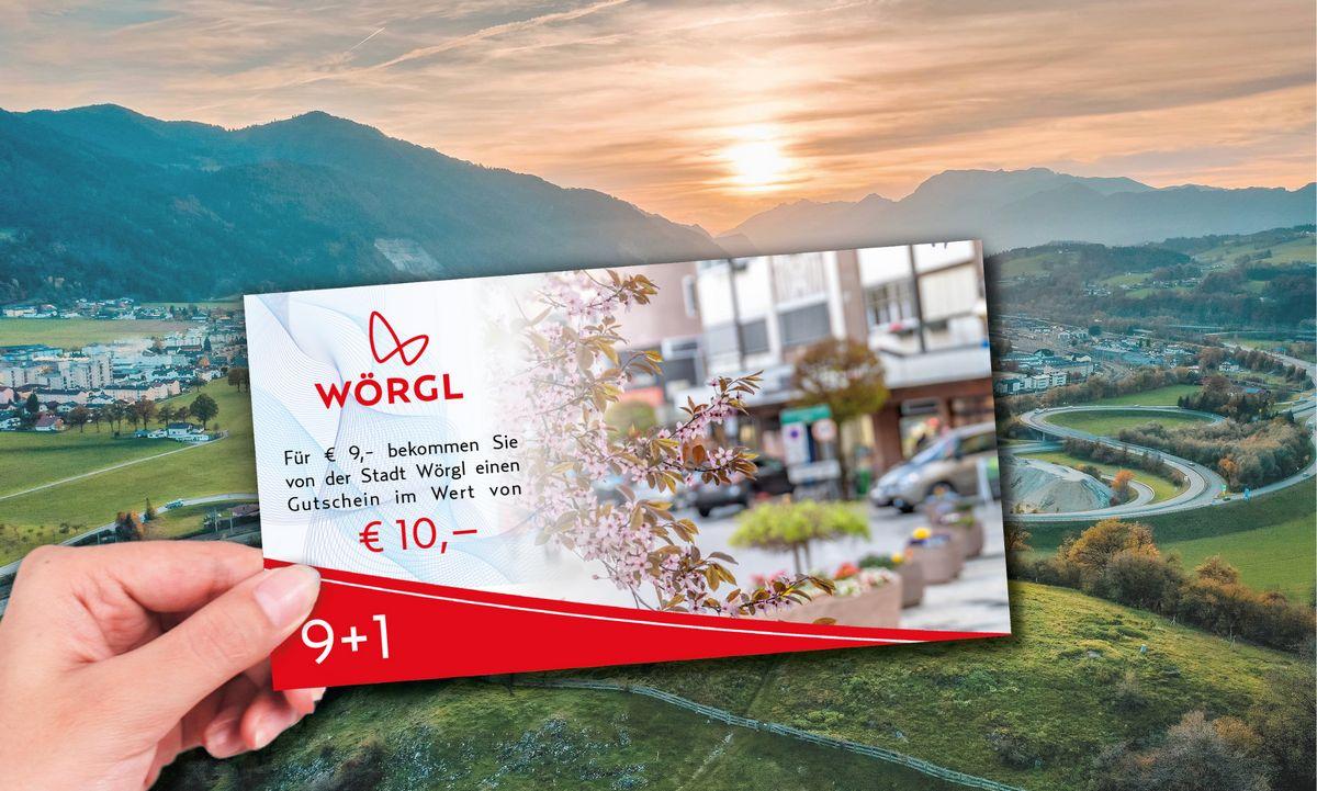 Zeitlich begrenzte 9+1 Gutscheinaktion in Wörgl. Foto: Foto: Stadtgemeinde Wörgl