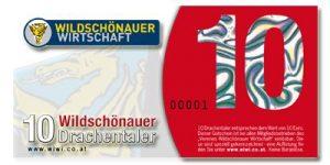 Vorderseite Wildschönauer Drachentaler. Bildnachweis: Wildschönauer Wirtschaft