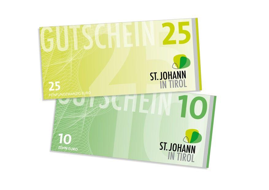 St. Johanner Einkaufsgutscheine. Bildnachweis: Ortsmarketing St. Johann