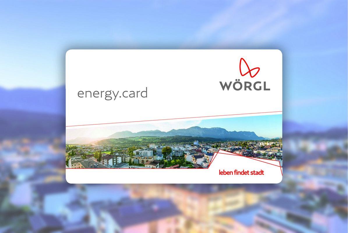 Energy.Card Wörgl. Bildnachweis: Stadtmarketing Wörgl GmbH