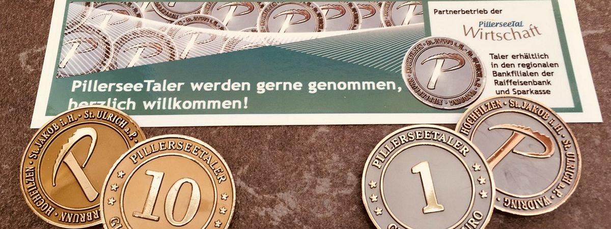 Pillerseetaler als Gutscheinmünze und Gutschein. Bildnachweis: http://www.regio-tech.at