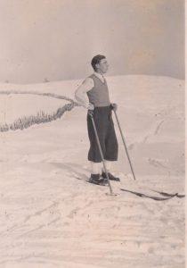 Josef Elsner arbeitete beim Sprungschanzenbau 1932 mit und wurde mit Freigeld bezahlt. Foto: Josef Elsner/Stadtarchiv