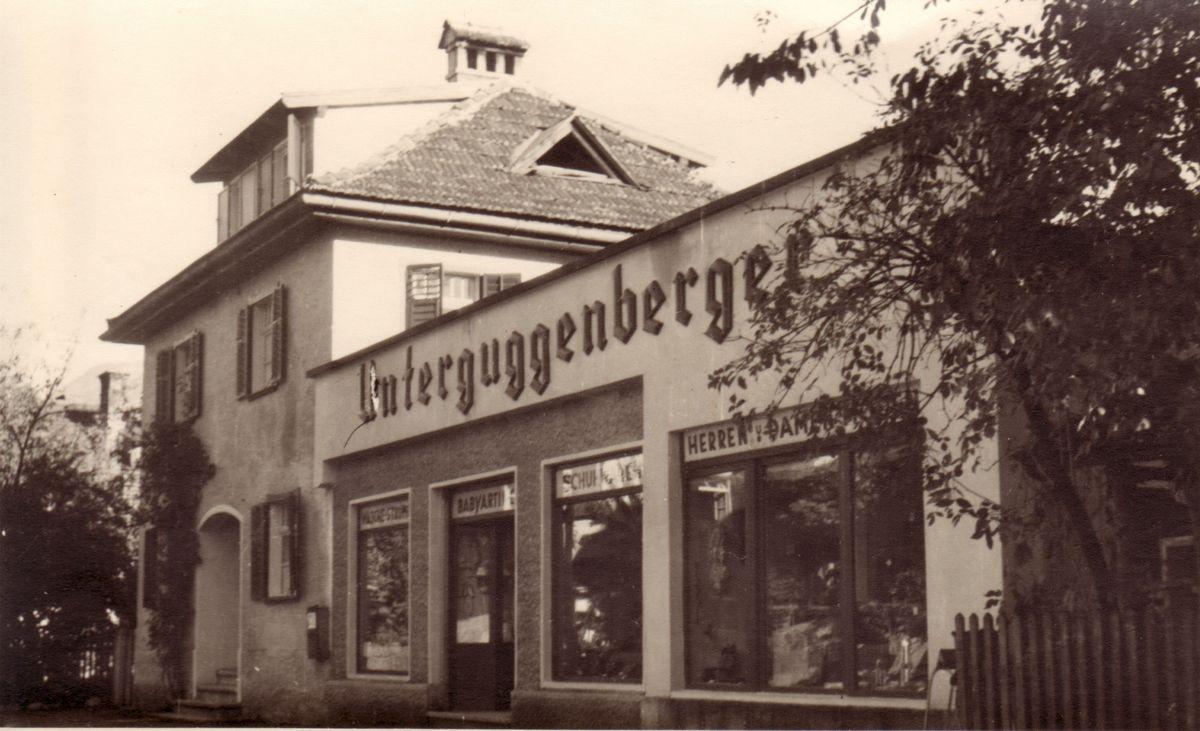 Rosa Unterguggenbergers nochmals erweitertes Laden für Damen-, Herren- und Babymode 1942. Foto: Unterguggenberger Institut Archiv