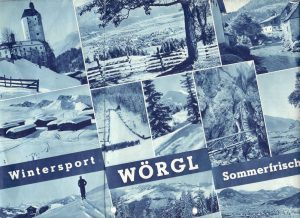 Werbeprospekt des Wörgler Verkehrsvereines in den 1930er Jahren. Foto: Unterguggenberger Institut