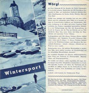 Wörgler Tourismus-Werbeprospekt in den 1930er Jahren. Foto: Unterguggenberger Institut