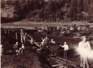 Beim Bau des Kirchbichler Moorstrandbades 1933. Foto: Unterguggenberger Institut